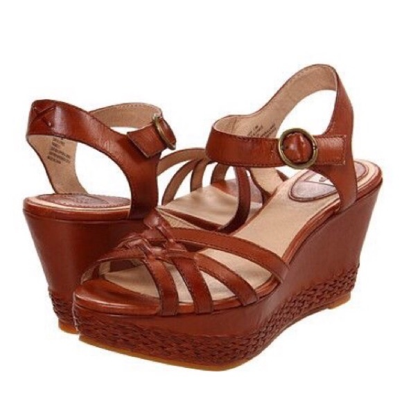 590f9b83f3d Frye Shoes - Frye  Carlie 2 Piece  Woven Leather Wedge Sandals